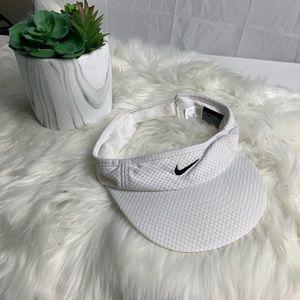 Nike white visor/hat